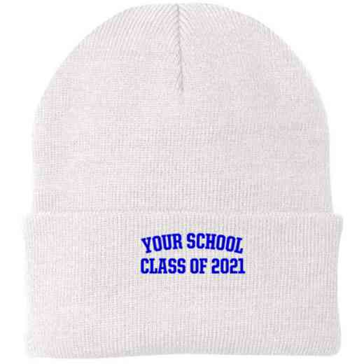 Class of  Embroidered Knit Folded Cuff Cap