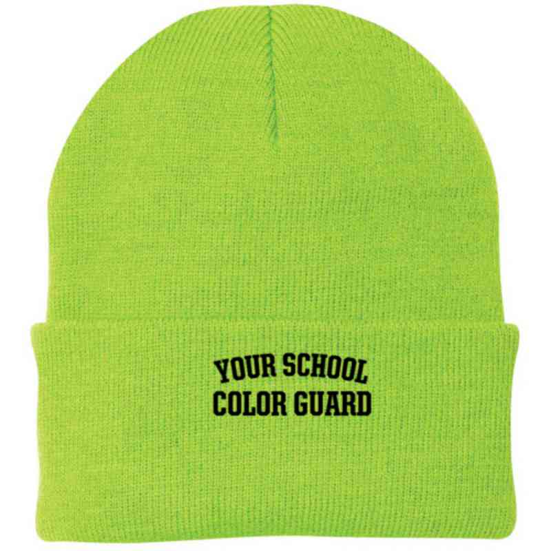 Color Guard Embroidered Knit Folded Cuff Cap