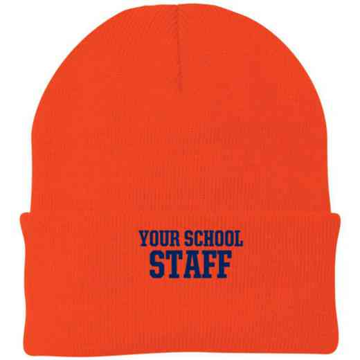 Staff Embroidered Knit Folded Cuff Cap