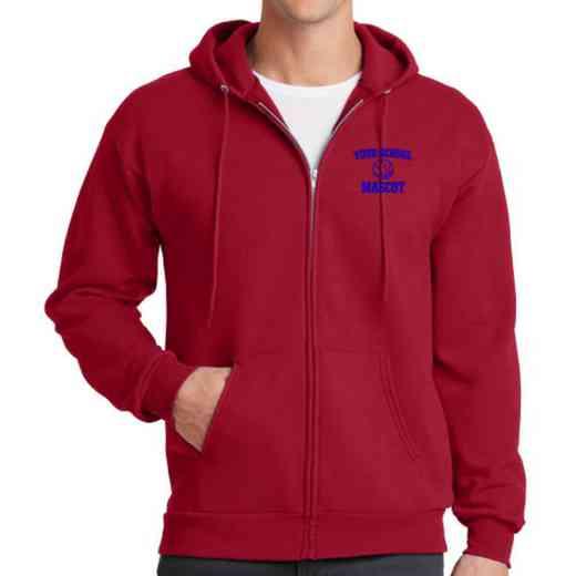 Basketball Embroidered Full Zip Hooded Sweatshirt