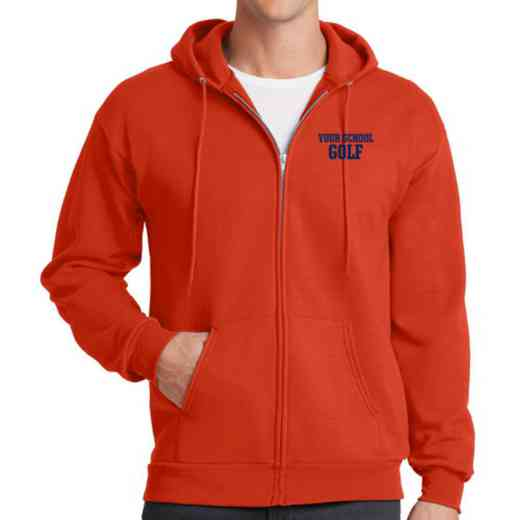 Golf Embroidered Full Zip Hooded Sweatshirt