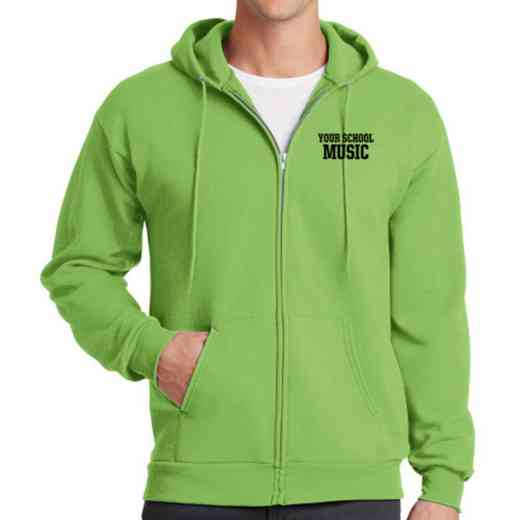 Music Embroidered Full Zip Hooded Sweatshirt