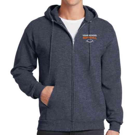Softball Embroidered Full Zip Hooded Sweatshirt