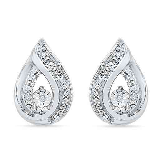 EF080637AAW: DIA ACCNT DIA TWISTY STUD EARRINGS