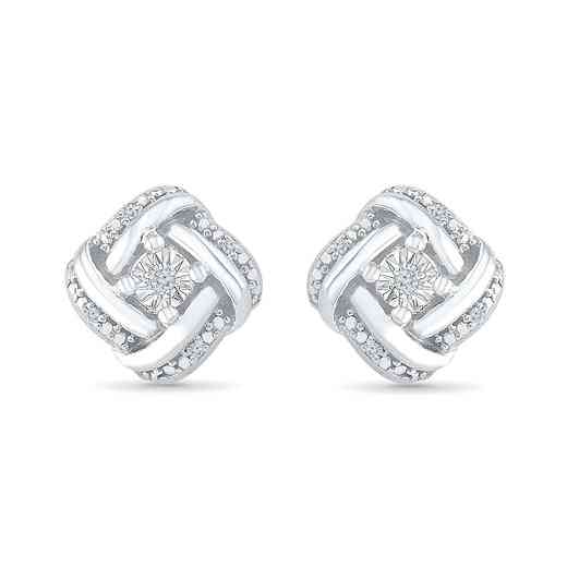 EF080636AAW: DIA ACCNT SQUARE STUD EARRINGS
