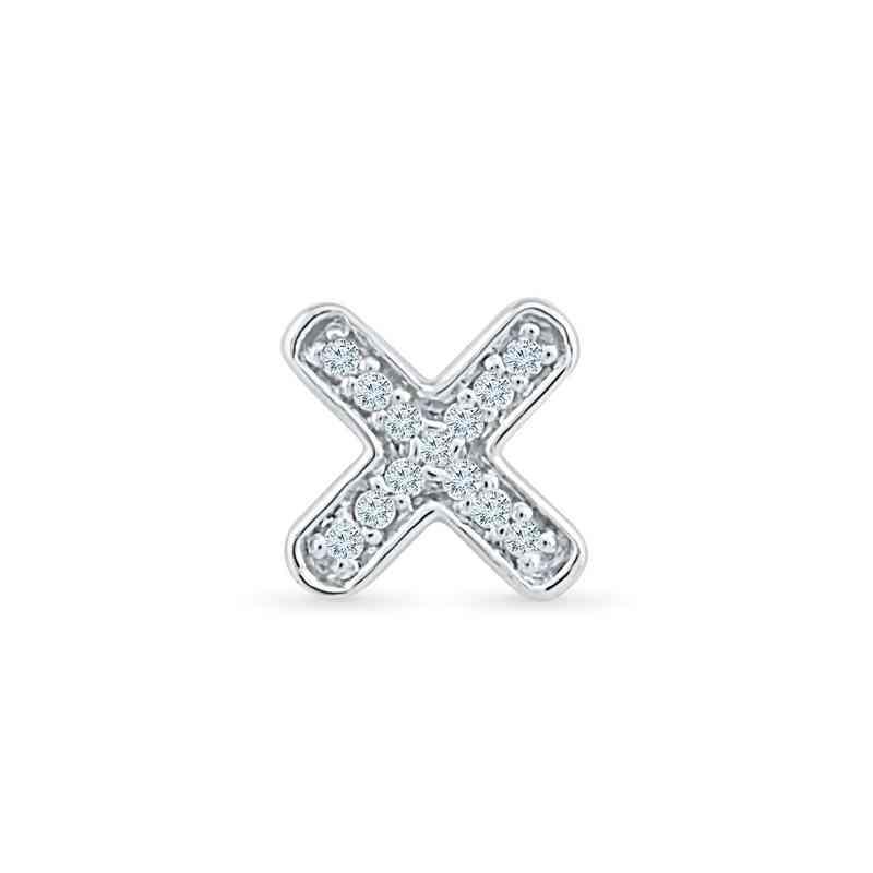 MQ079746AAW: DIA ACCNT X SINGLE EARRING