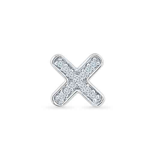 MQ079746AAW: DIA ACCNT X SINGLE EARRING