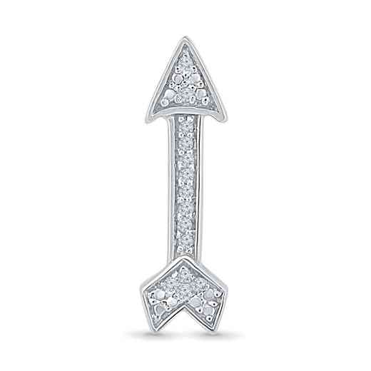 MQ079753AAW: DIA ACCNT ARROW SINGLE EARRING