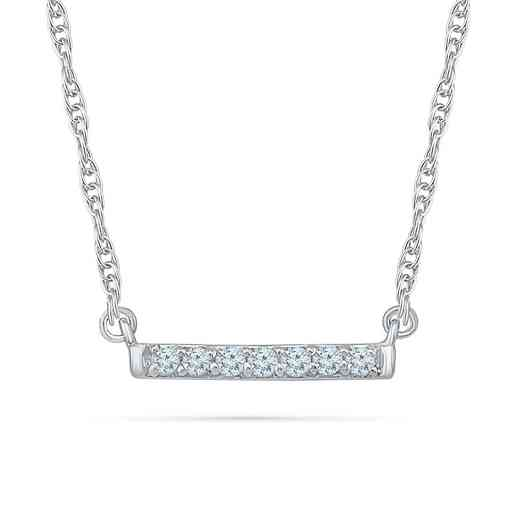 NF203291BAW: DIA ACCNT ROW NECKLACE