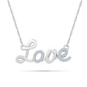 c00e2ceef6a40 Diamond Accent XO Necklace in Sterling Silver