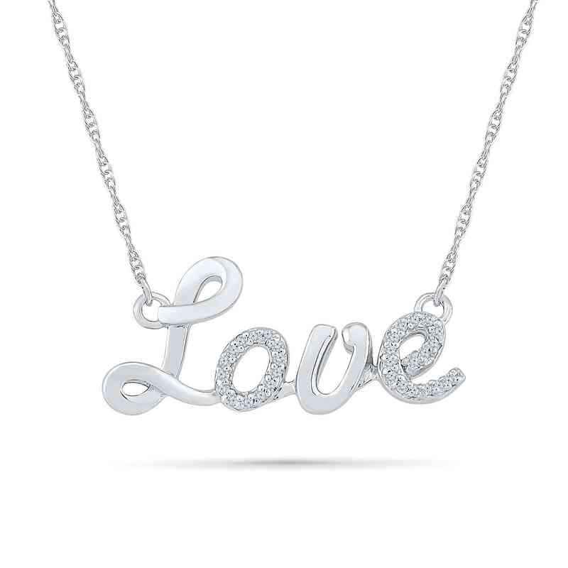 NZ079711BAW: DIA ACCNT DIA LOVE NECKLACE