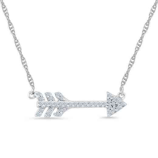 NQ200677BAW: SS ARROWPEND NECKLACE J / I3 0.100008