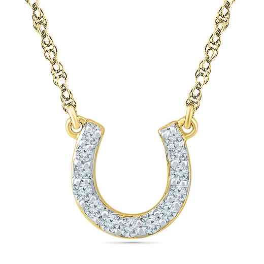 NQ200667BAY: 1/10CTTW DIA HORSESHOE NECKLACE
