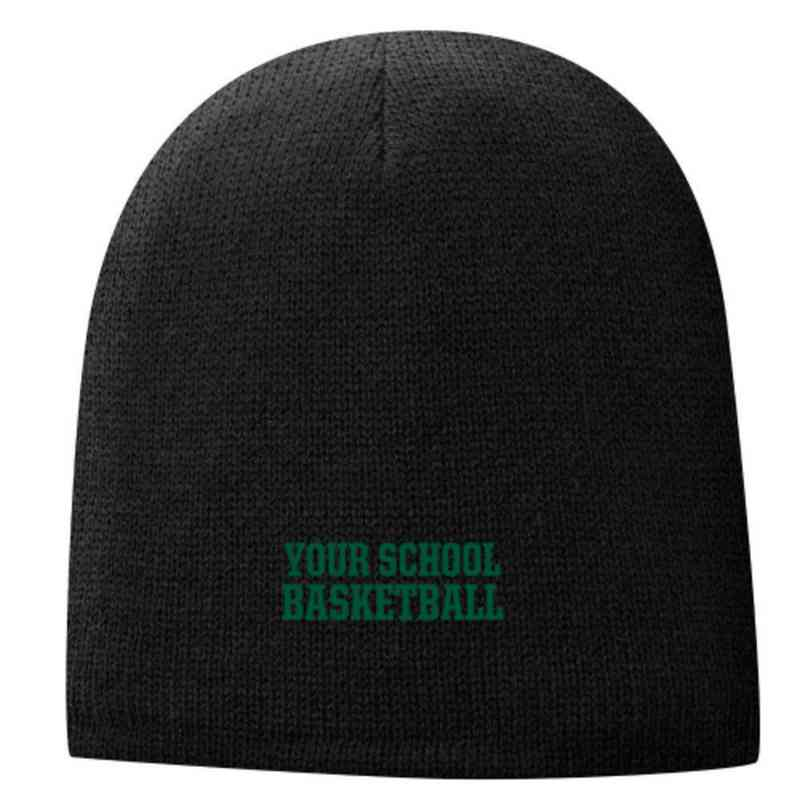 Basketball Embroidered Fleece Lined Beanie