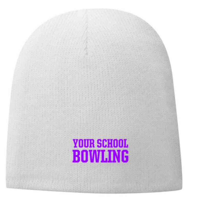Bowling Embroidered Fleece Lined Beanie