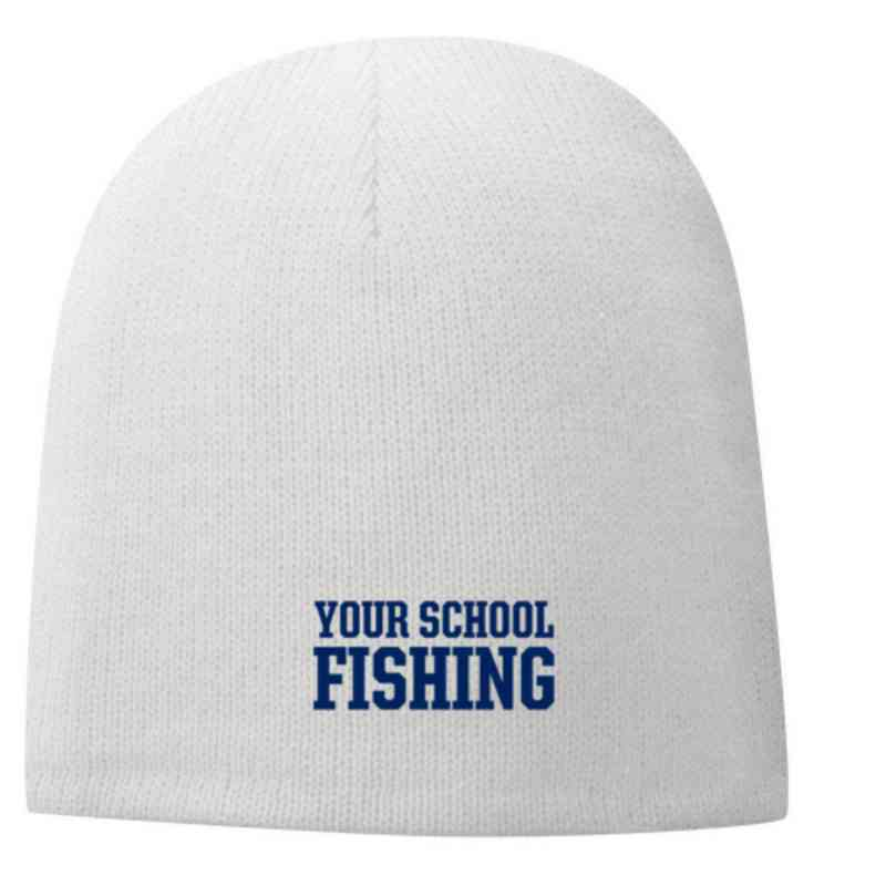 Fishing Embroidered Fleece Lined Beanie