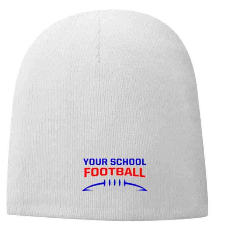 Football Embroidered Fleece Lined Beanie