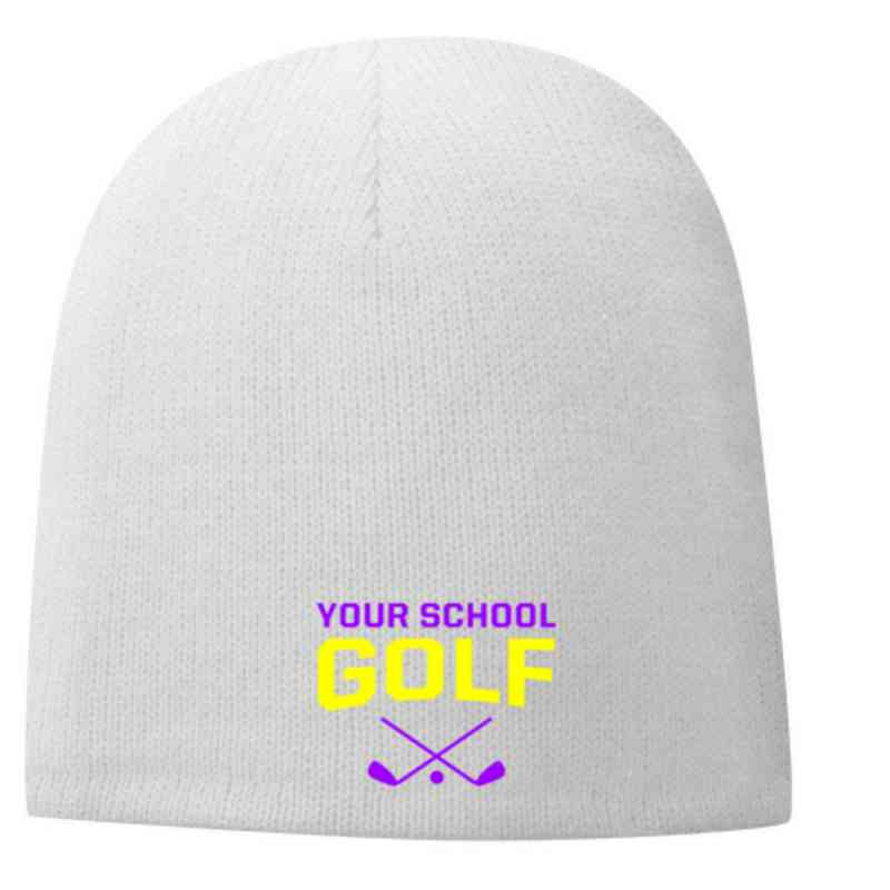 Golf Embroidered Fleece Lined Beanie