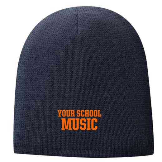 Music Embroidered Fleece Lined Beanie