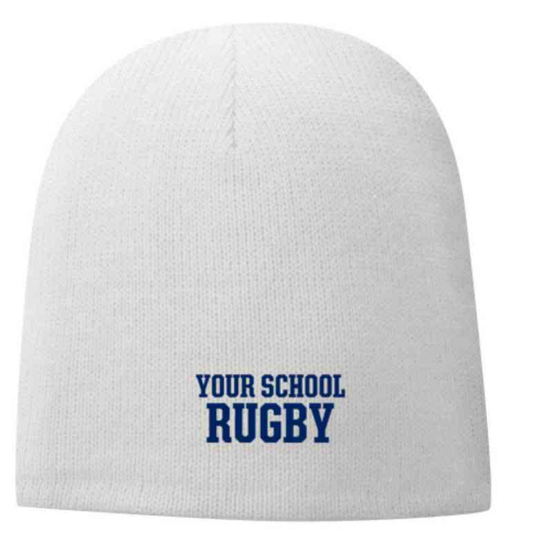 Rugby Embroidered Fleece Lined Beanie