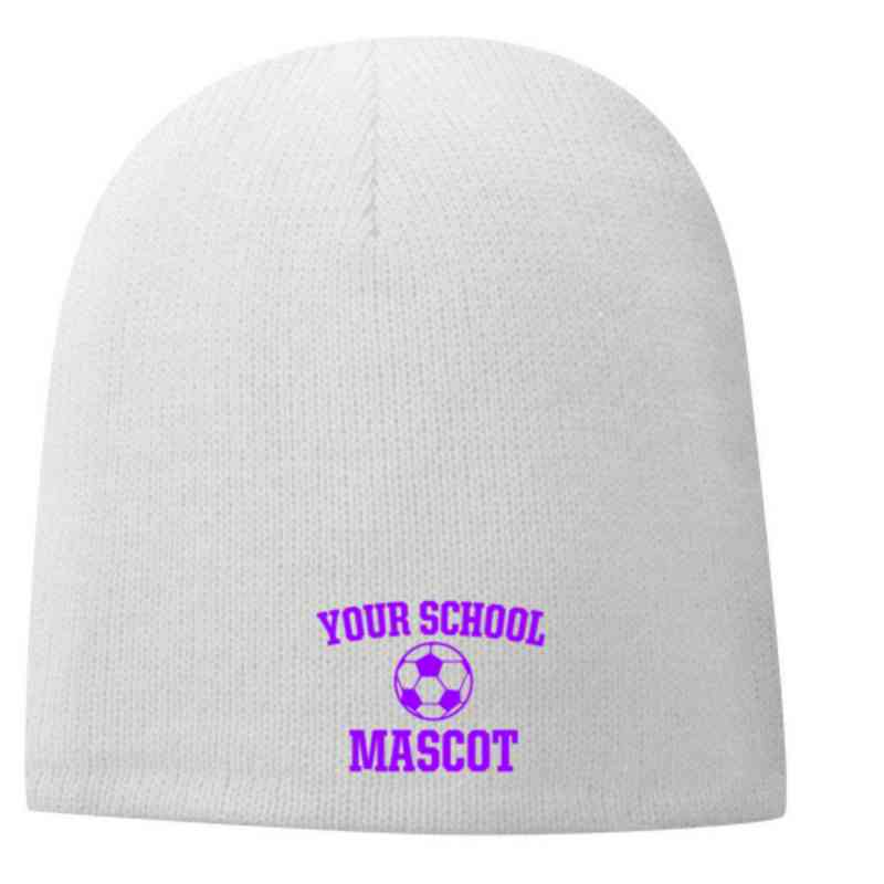 Soccer Embroidered Fleece Lined Beanie