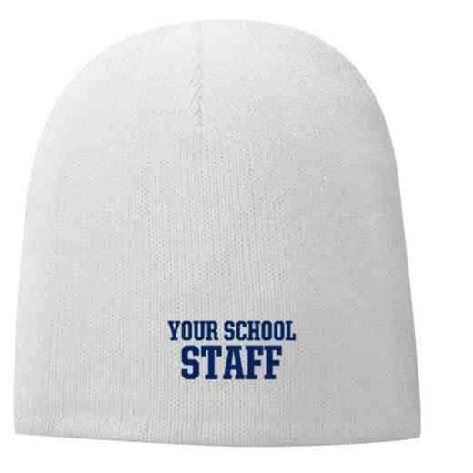 Staff Embroidered Fleece Lined Beanie