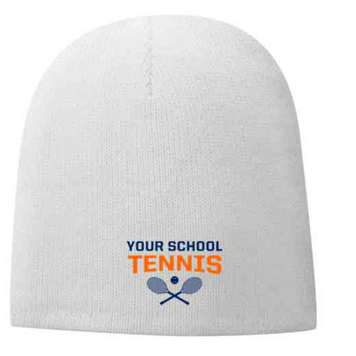 Tennis Embroidered Fleece Lined Beanie