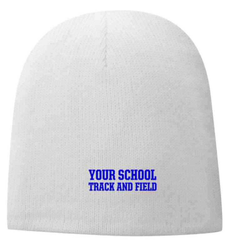 Track and Field Embroidered Fleece Lined Beanie