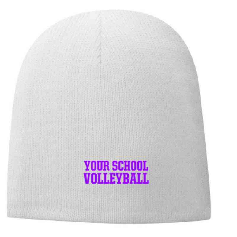 Volleyball  Embroidered Fleece Lined Beanie