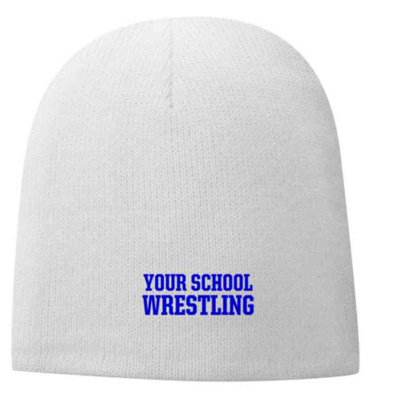 Wrestling Embroidered Fleece Lined Beanie