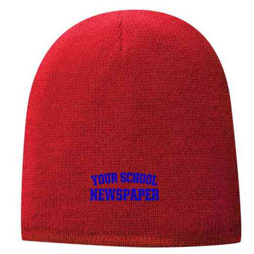 Newspaper Embroidered Fleece Lined Beanie
