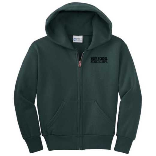 Athletic Department Embroidered Youth Full Zip Hooded Sweatshirt