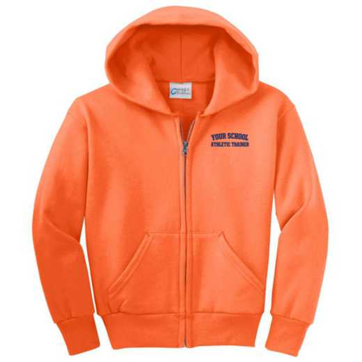 Athletic Trainer Embroidered Youth Full Zip Hooded Sweatshirt