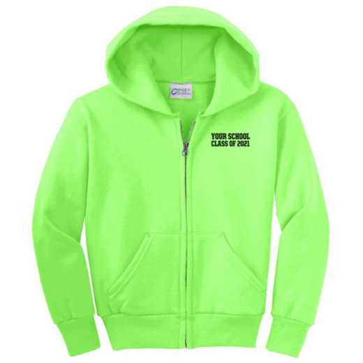 Class of  Embroidered Youth Full Zip Hooded Sweatshirt