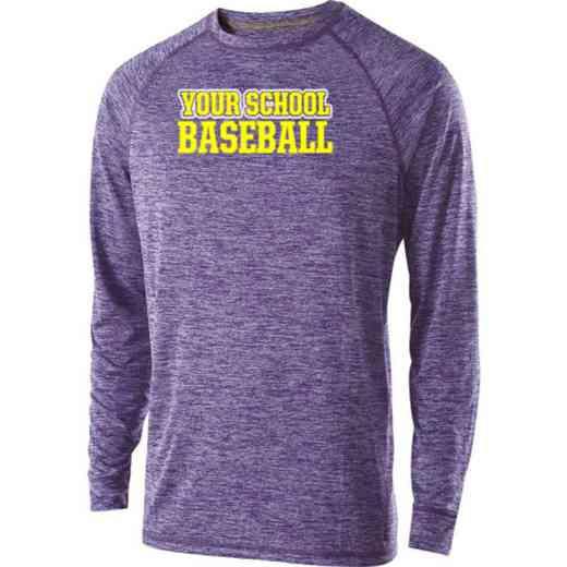 Baseball Holloway Electrify Long Sleeve Performance Shirt
