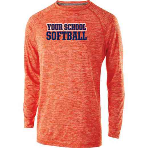 Softball Holloway Electrify Long Sleeve Performance Shirt