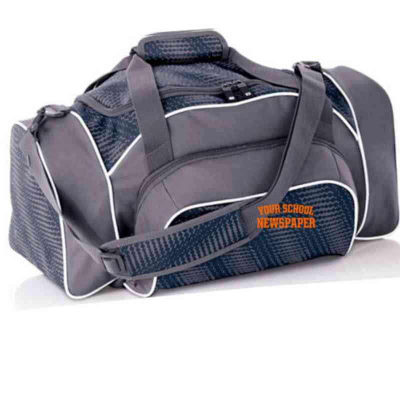 Newspaper Embroidered Holloway League Duffel Bag