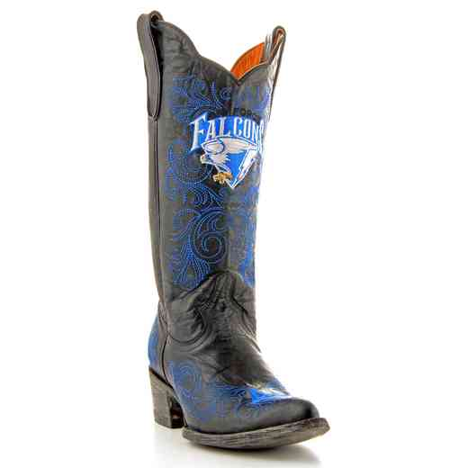 "Women's 13"" U.S. Air Force Falcons Black Cowboy Boots by Gameday Boots"