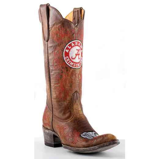 "Women's 13"" University of Alabama Crimson Tide Brass Cowboy Boots by Gameday Boots"