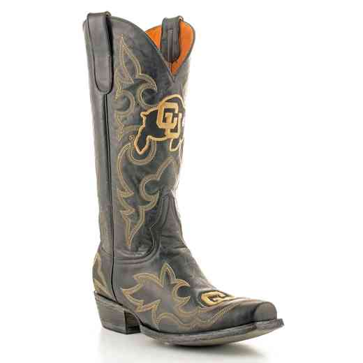 Men's University of Colorado Buffaloes Black Tailgate Cowboy Boots by Gameday Boots