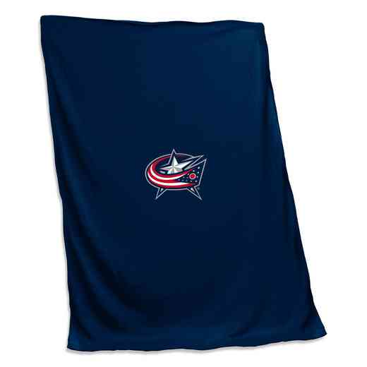 809-74: Columbus Blue Jackets Sweatshirt Blanket