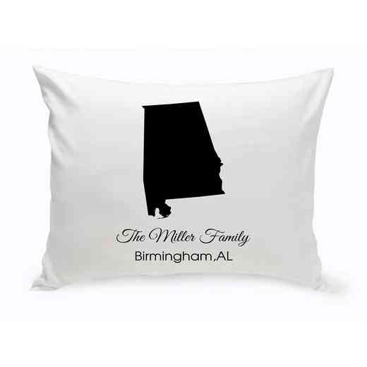 GC1380-AL: Blk Prsnlzed Home St.ThrowPillowAlabama