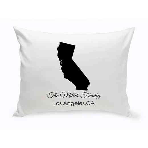 GC1380-CA: Blk Prsnlzed Home St.ThrowPillow Calif