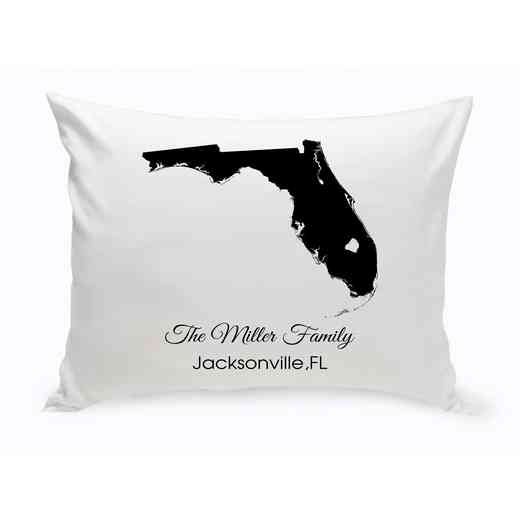 GC1380-FL: Blk Prsnlzed Home St.ThrowPillow Florida