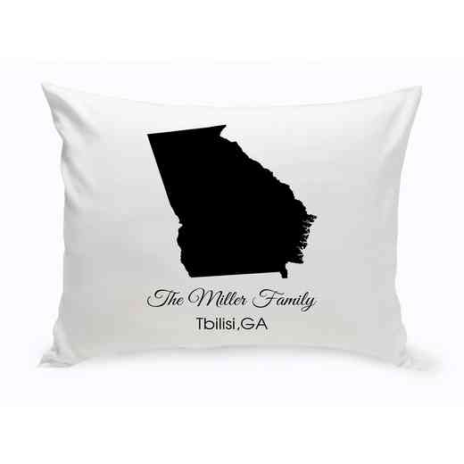 GC1380-GA: Blk Prsnlzed Home St.ThrowPillow Georgia