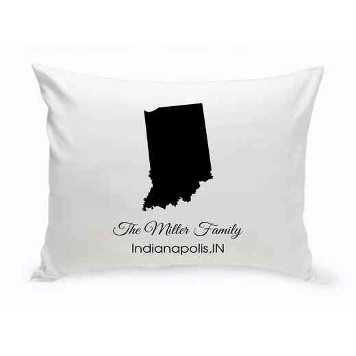 GC1380-IN: Blk Prsnlzed Home St.ThrowPillow Indiana