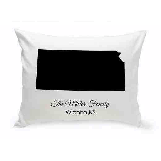 GC1380-KS: Blk Prsnlzed Home St.ThrowPillow Kansas