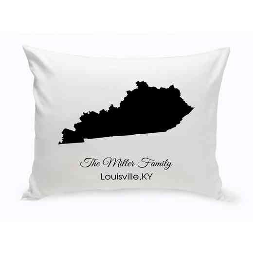 GC1380-KY : Blk Prsnlzed Home St.ThrowPillowKentucky