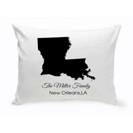 GC1380-LA: Blk Prsnlzed HomeSt.ThrowPillowLouisiana