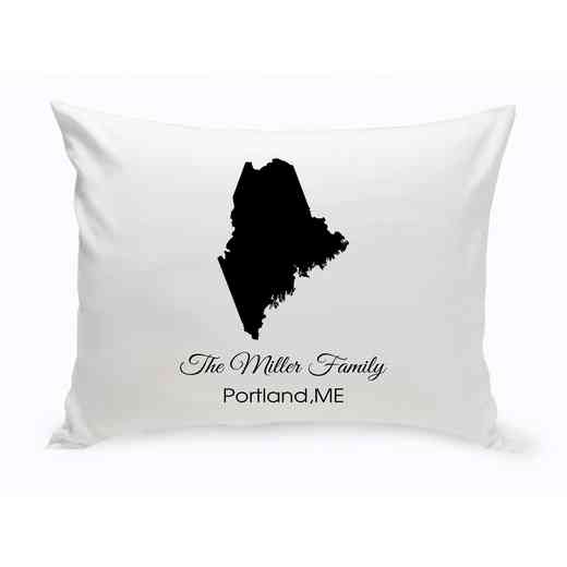 GC1380-ME: Blk Prsnlzed Home St.ThrowPillow Maine